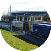 Eurotunnel freight check in the UK
