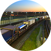 Trucks on Eurotunnel